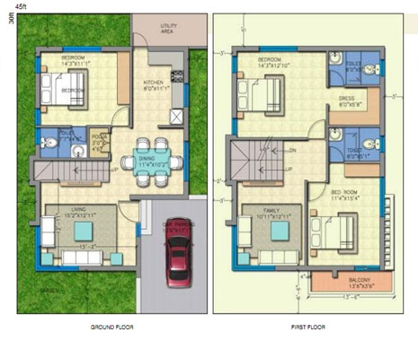Jr greenpark lakefront 3 4 bedroom duplex villas near Indian villa floor plans