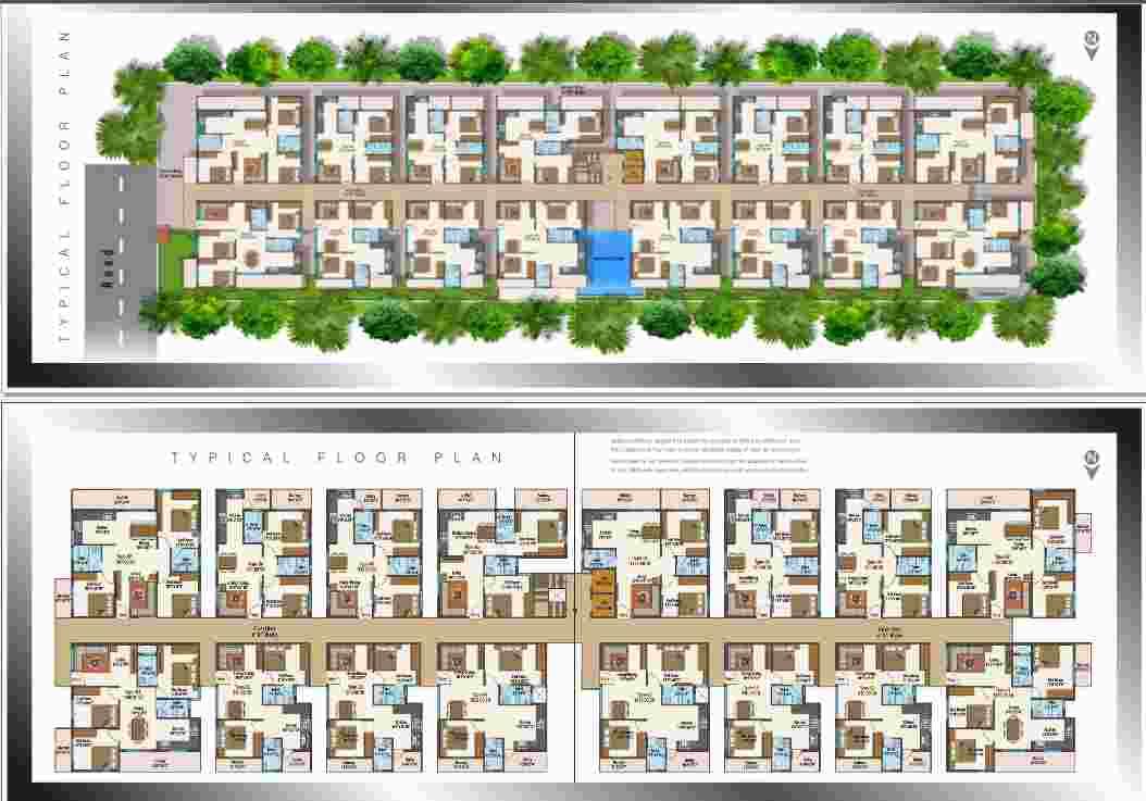 Naksha Atlantis 2 3 Bhk Residential Apartment In