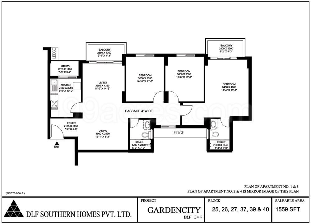 Dlf Garden City Floor Plan
