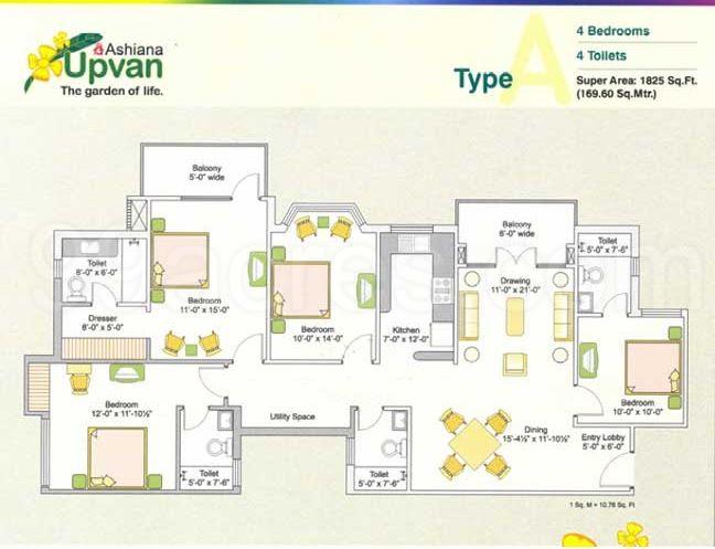 Ashiana upvan by ashiana housing 2 4 bhk residential for Landcraft homes floor plans