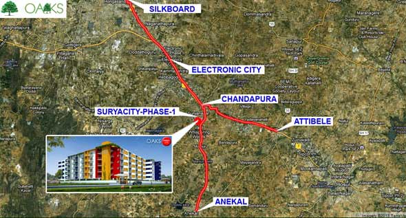 Chandapura Circle Bangalore: 2/3 BHK Residential Apartment At Surya City
