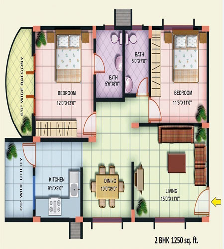 Indian House Plans For Sq Ft Louisvuittonukonlinestorecom - 1250 sq ft house plans