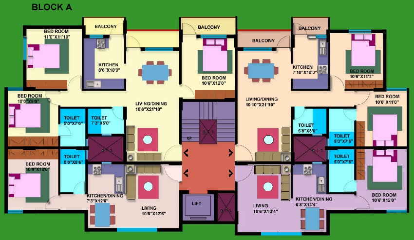 Apartment Floor Plans India delighful apartment floor plans india 1200 sq ft m for design