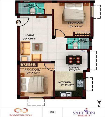 Saffron Heights 2 3 Bhk Apartments At Pallavaram Chennai