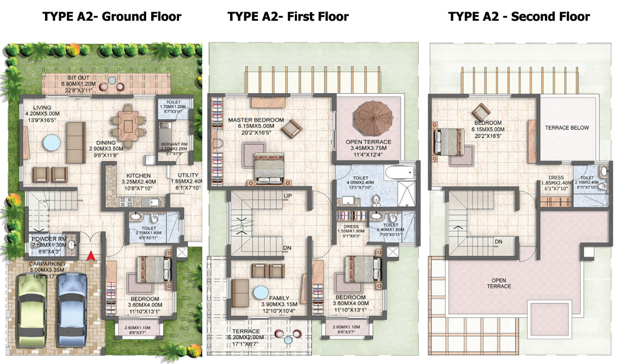 Luxury Villa Floor Plans In India