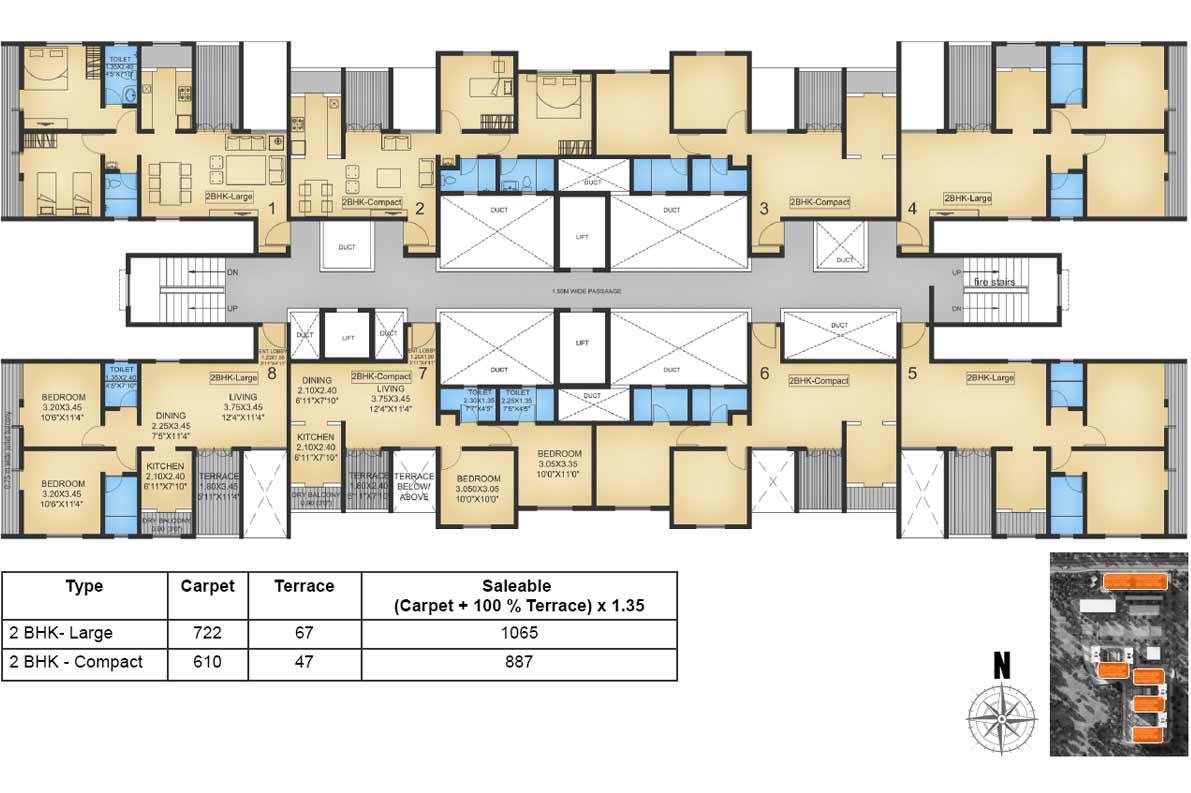 Pinnacle neelancha 2 bhk residential apartment at sus pune for 2 bhk flat drawing