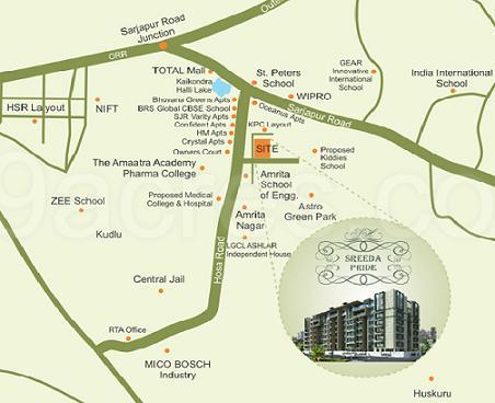 Location Map : Sreeda-Pride-by-Sreeda-Homes, - Real Estate