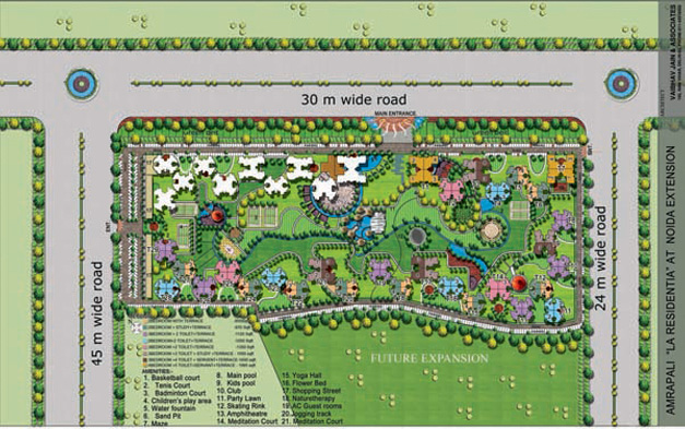 site plans of amrapali group residency in noida