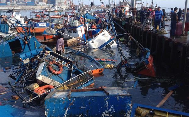 Tsunami waves hit Japan after Chile quake