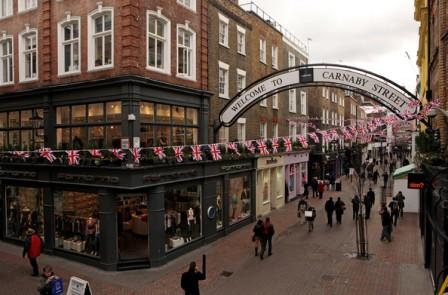 carnaby street popular shopping places in london