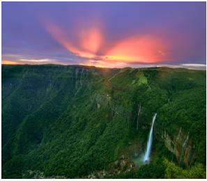 most photogenic waterfalls Cherrapunji