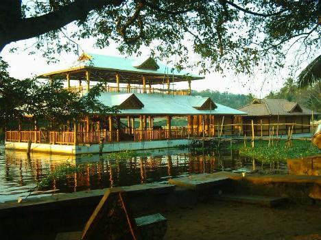Image result for veli lake floating restaurant trivandrum