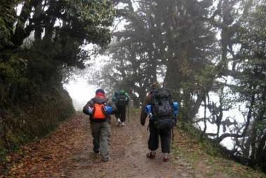 Ghezing, base of trekking to the Himalayas